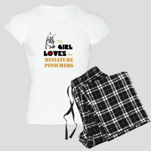 Girl Loves her Min Pins Women's Light Pajamas